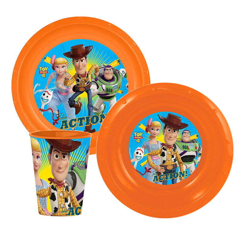 Disney Toy Story Kinder Geschirr Set 3 Teile orange