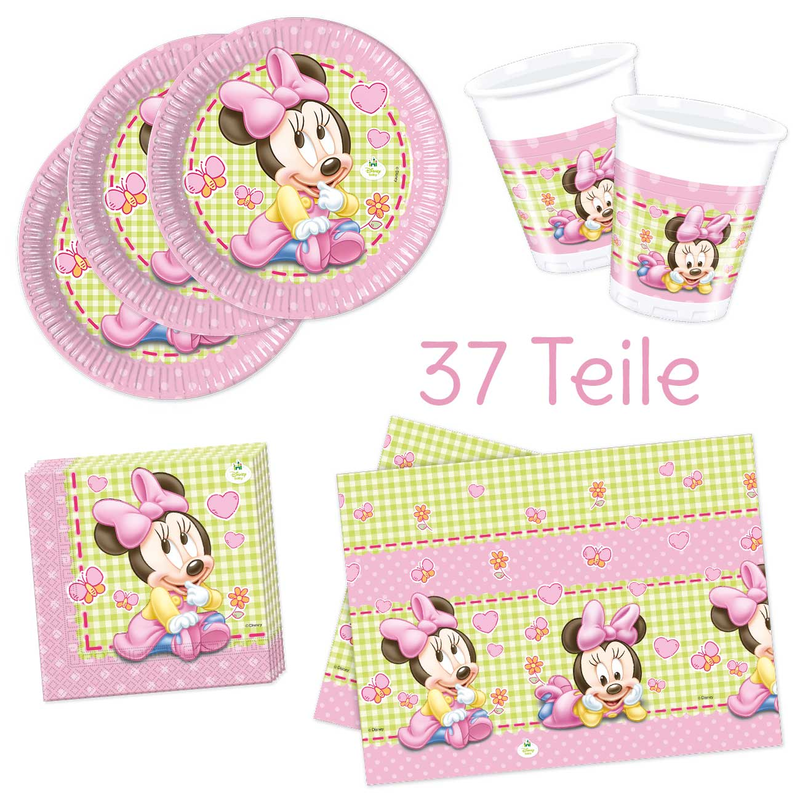 Disney Minnie Baby Deko Party-Set 37 tlg.