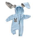 Baby Sweets Strampler Overall Jumpsuit blau Hase