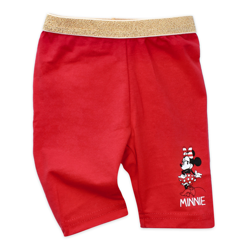 Disney Mädchen 3/4 Leggings Minnie Mouse rot