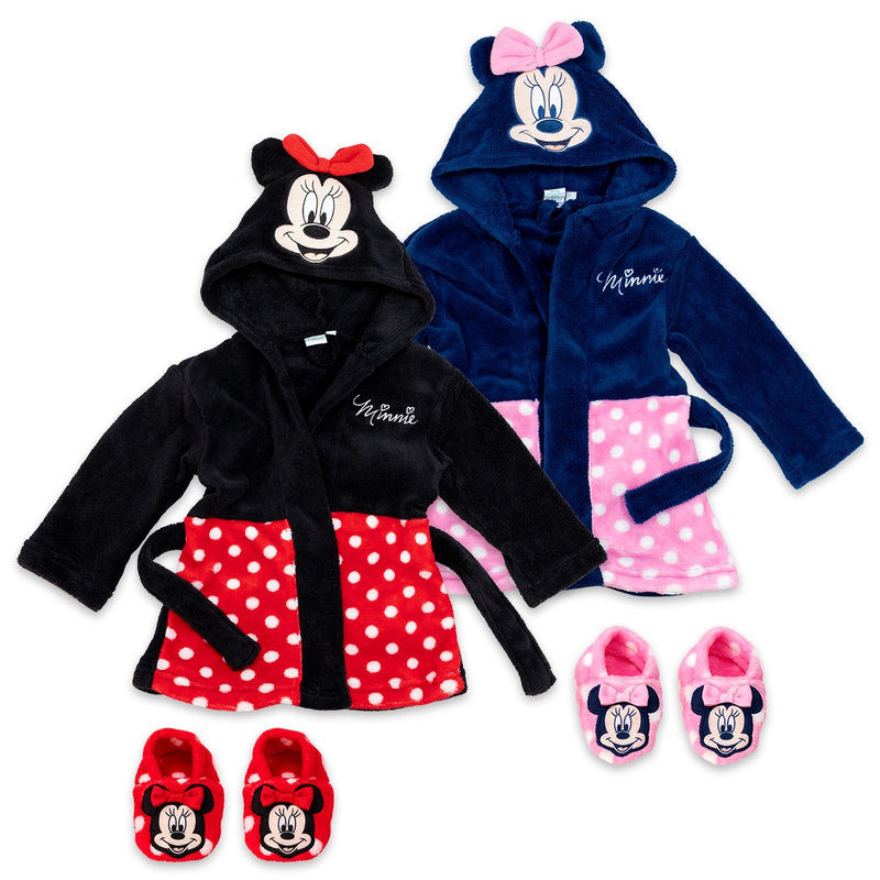 Disney Minnie Mouse Bademantel mit Schuhe